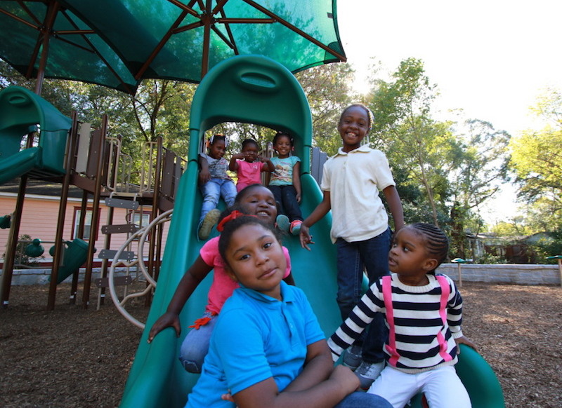 11 5 Kids on slide Lindsay Street Park Ribbon Cutting c Whitney Flanagan 059 copy