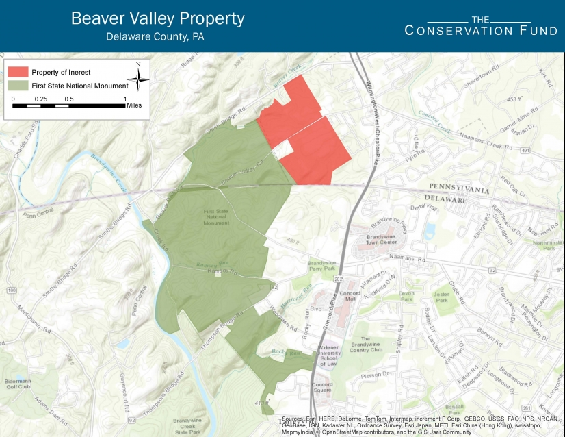 Map BeaverValley TheConservationFund