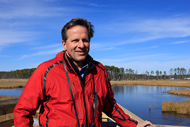 Erik Meyers, Vice President, at Blackwater NWR (Photo by Whitney Flanagan)