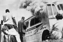 Freedom Riders Civil Rights Burning Bus
