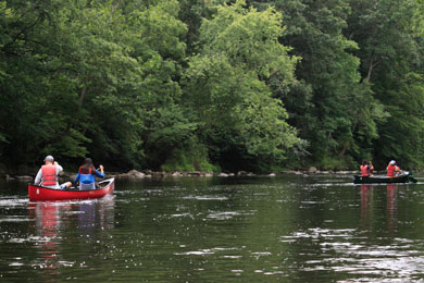Kayaking along the Brandywine River. Photograph by Whitney Flanagan/The Conservation Fund.