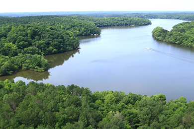 Lake Wateree and Liberty Hill property. Photo by Brian Gomsak