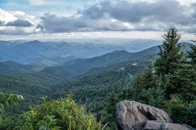 Scenic view from Waterrock Knob. By Steve Orr.
