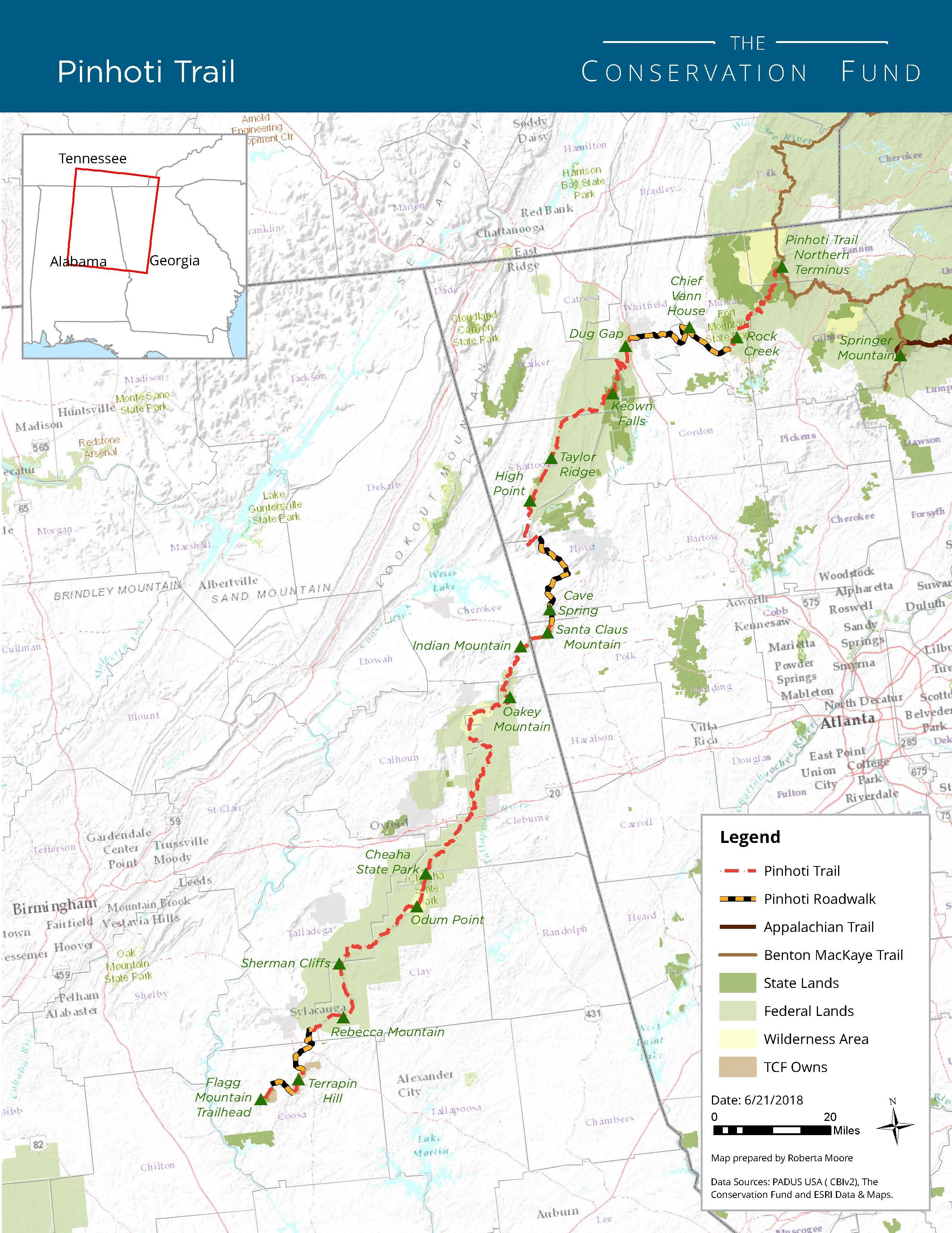Connecting Pinhoti And Appalachian Trails | The Conservation ...