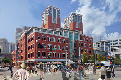 Rendering of the Boston Public Market by Architerra