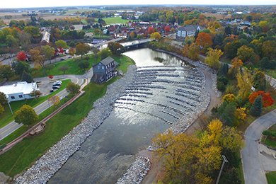 "The ""Frankenmuth Fish Passage."" Photo by U.S. Army Corps of Engineers."