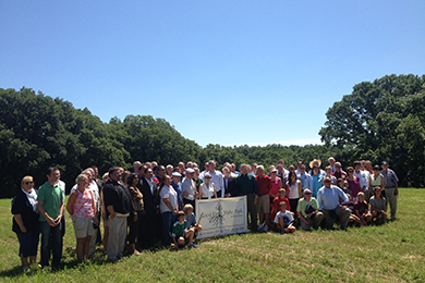 Groundbreaking at Good Earth State Park. Photo by Clint Miller.