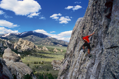 Rock climber at City of Rocks Reserve. Photo by Howie Garber/Wanderlust-Photos