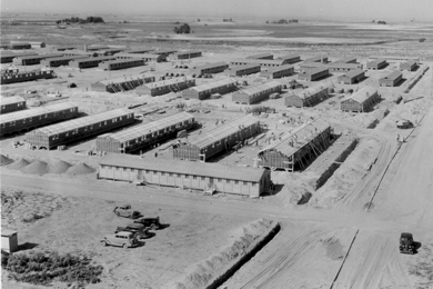 Barracks at Minidoka Japanese Internment Camp, Idaho. Photo by Francis Stewart.