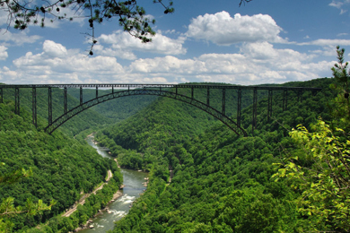 New River Gorge. Photo by Ed Rehbein/Sunbuttrres
