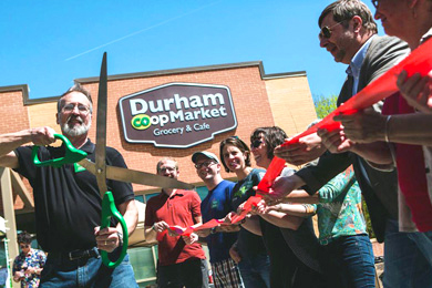 Ribbon-cutting ceremony. Photo courtesy of Durham Co-op Market.