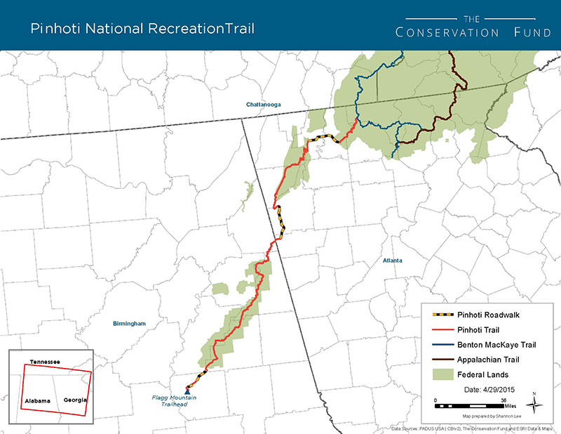 Connecting Pinhoti And Appalachian Trails  The Conservation Fund