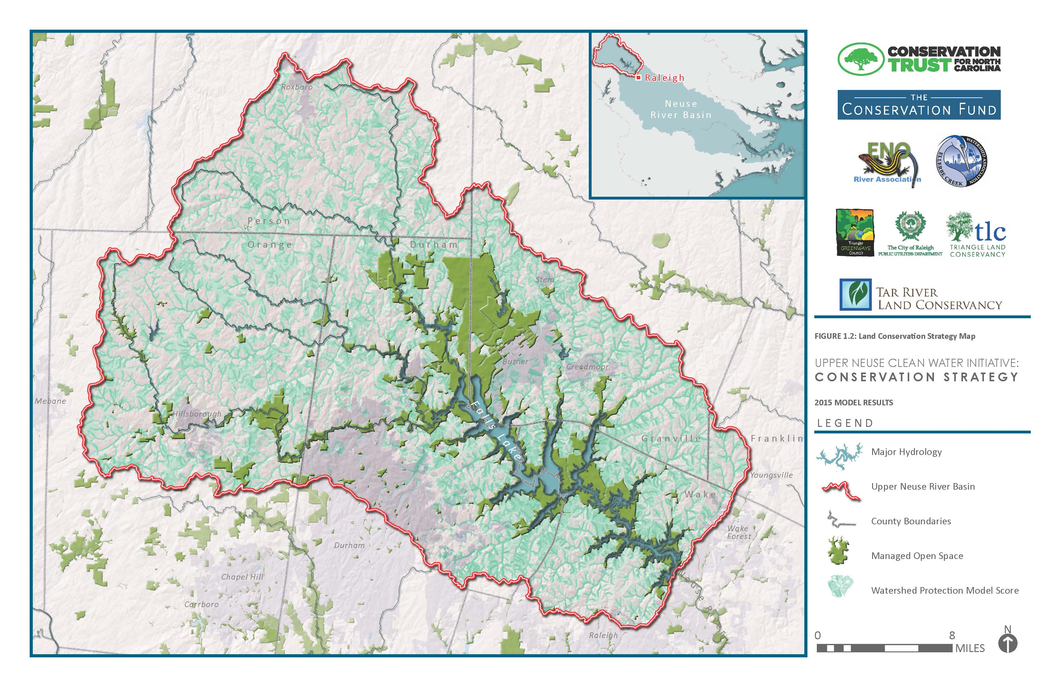 2015 model for the Upper Neuse Clean Water Initiative Conservation Strategy.
