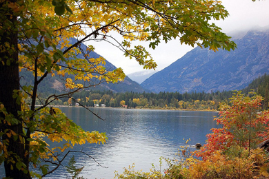 The town is Stehekin is at the northwest end of Lake Chelan. Photo: Angela Q, Flickr