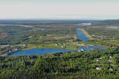 Aerial view of Chena Marina. Photo by Travis/Flickr