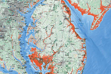 Chesapeake Bay On Map Of Usa.Climate Change And The Chesapeake Bay The Conservation Fund