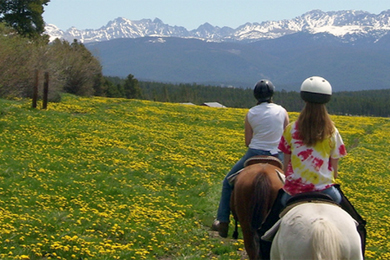 Horseback riding at Snow Mountain Ranch. Photo courtesy YMCA of the Rockies.
