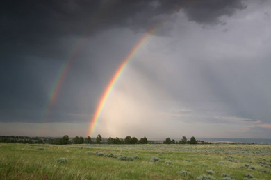 Rainbows over Circle R Ranch. Photo by Todd Kaplan / www.toddkaplanphotographics.com.