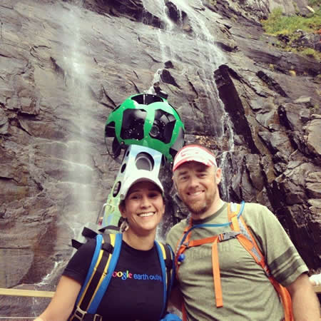 Jazmin Varela and Reggie Hall at Chimney Rock State Park